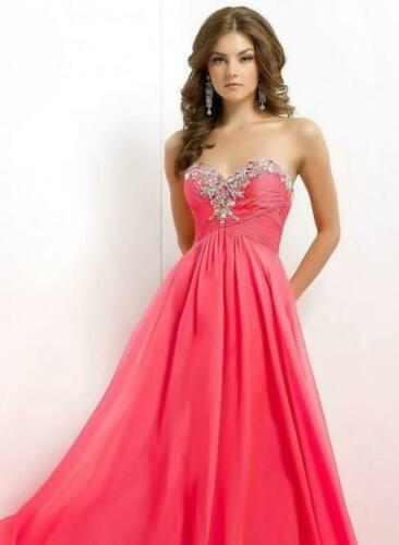 $90 Long Prom Dress BLUSH PROM X236 Color: Coral S