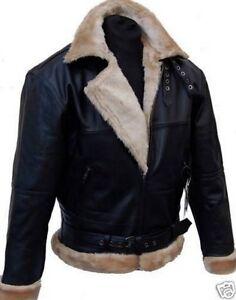 Nuovi piloti in Pelle Giacca Giacca da Aviatore Pilota Giacca di Pelle Giacca Bomber Abbigliamento e accessori Cappotti e giacche