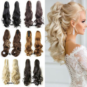 Jaw-Ponytail-Clip-in-Hair-Extension-Claw-Pony-Tail-Clip-On-Hairpiece-Curly-Wavy
