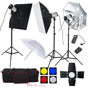 3-x-300W-Flash-Kit-illuminazione-FOTOGRAFIA-STUDIO-FOTOGRAFICO-LAMPADA-A-LUCE-STROBOSCOPICA-900W-UK