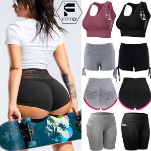 Womens-Yoga-Sports-Bra-Fitness-Shorts-Workout-Tank-Tops-Vest-Tops-Sportwear-Hot