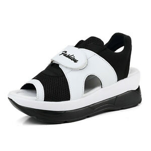 Details about Female New Trainers Sport Shoes Breathable Platform Sandals Peep Toe Sneakers