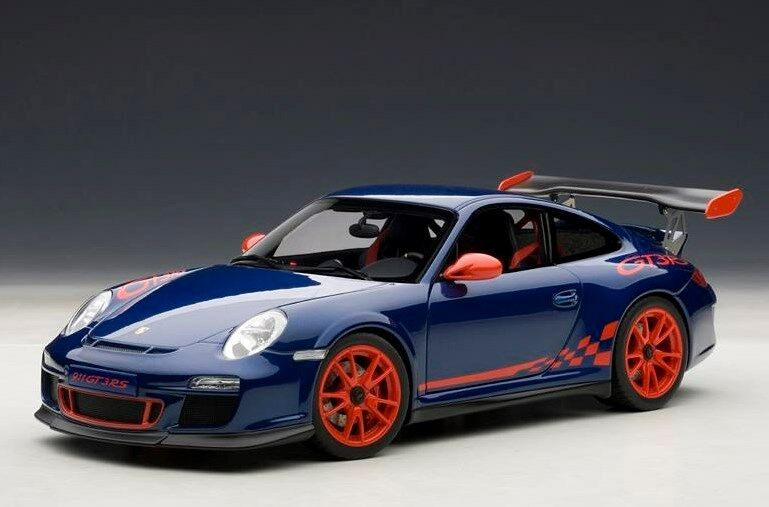 78144 AUTOart 1:18 Porsche 911 977  GT3RS 3.8 blu/rosso Stripes