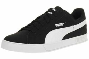 a27873dab64 PUMA Mens Smash Vulc Leather Trainers Shoes 359622-09 Black   White ...