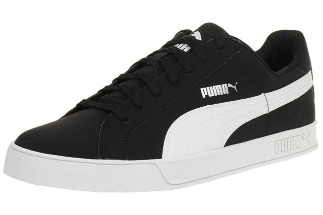 359622 PUMA Mens Smash Vulc Black and White SNEAKERS - 12 US for ... 04fdee999