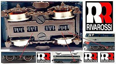 RIVAROSSI VINTAGE n.1 CARRELLO COMPLETO INGRANAGGI per TARTARUGA E444 FS SCALA-N
