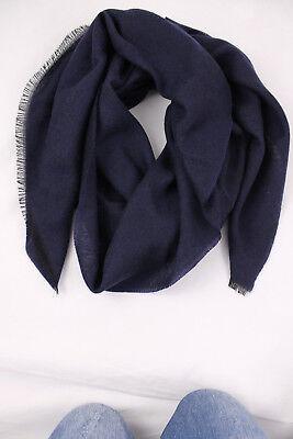 Merino 4351004-40R-642 Schal Webschal Uni modisch blau weiß 100/% Wolle