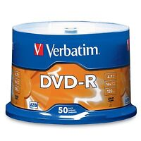 Verbatim 4.7 Gb Up To 16x Branded Recordable Disc Azo Dvd-r 50-disc Spindle on sale