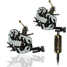 Blanco Scorpion Profesional Tatuaje Máquina Para Fuente De Alimentación Pistola Clip Cord