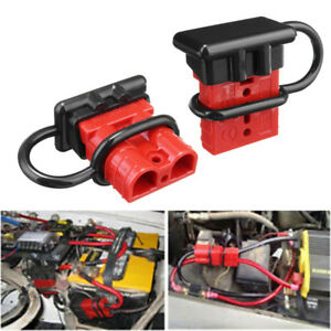 Fantastic 50A Battery Quick Connect Disconnect Wire Harness Plug Winch Trailer Wiring Database Obenzyuccorg