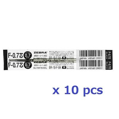 10 pcs PILOT BKRF-6F 0.7mm fine ball point pen only refill Black ink Japan
