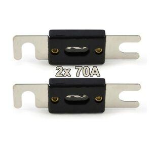 2xStreifensicherung Sicherung 120A AMP ANL Type Vergoldet Blade Fuses Für Auto T