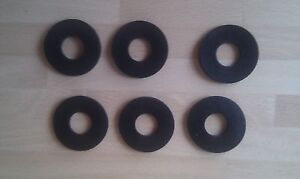 6-NEW-LARGE-RUBBER-WASHERS-1-O-D-X-1-2-034-HOLE-X-3MM-THICK