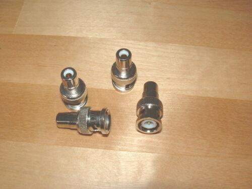 Adapter BNC Stecker auf Chinch auf Kupplung Chinch RCA