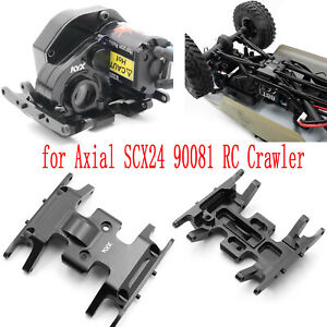 Pour-Axial-SCX24-90081-RC-Crawler-Aluminum-Middle-Gearbox-Skid-Plate-Holder-Nouv