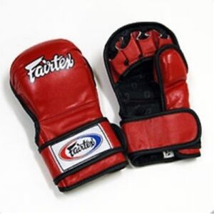 FAIRTEX-FGV15-RED-DOUBLE-WRIST-CLOSURE-MARTIAL-ARTS-MMA-BOXING-SPARRING-GLOVES