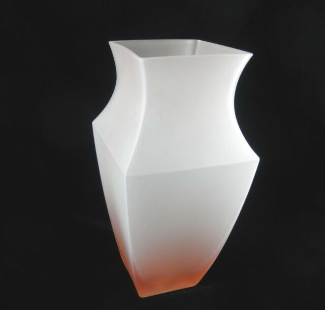 Pink Frosted Glass Vase Studio Nova Mirage Bx 206 626 Ebay
