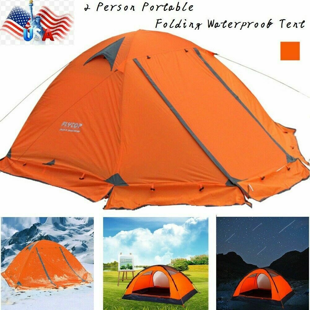 Camping Lightweight Tent Double Layer Portable Outdoor Aluminum Poles 1-3 Person