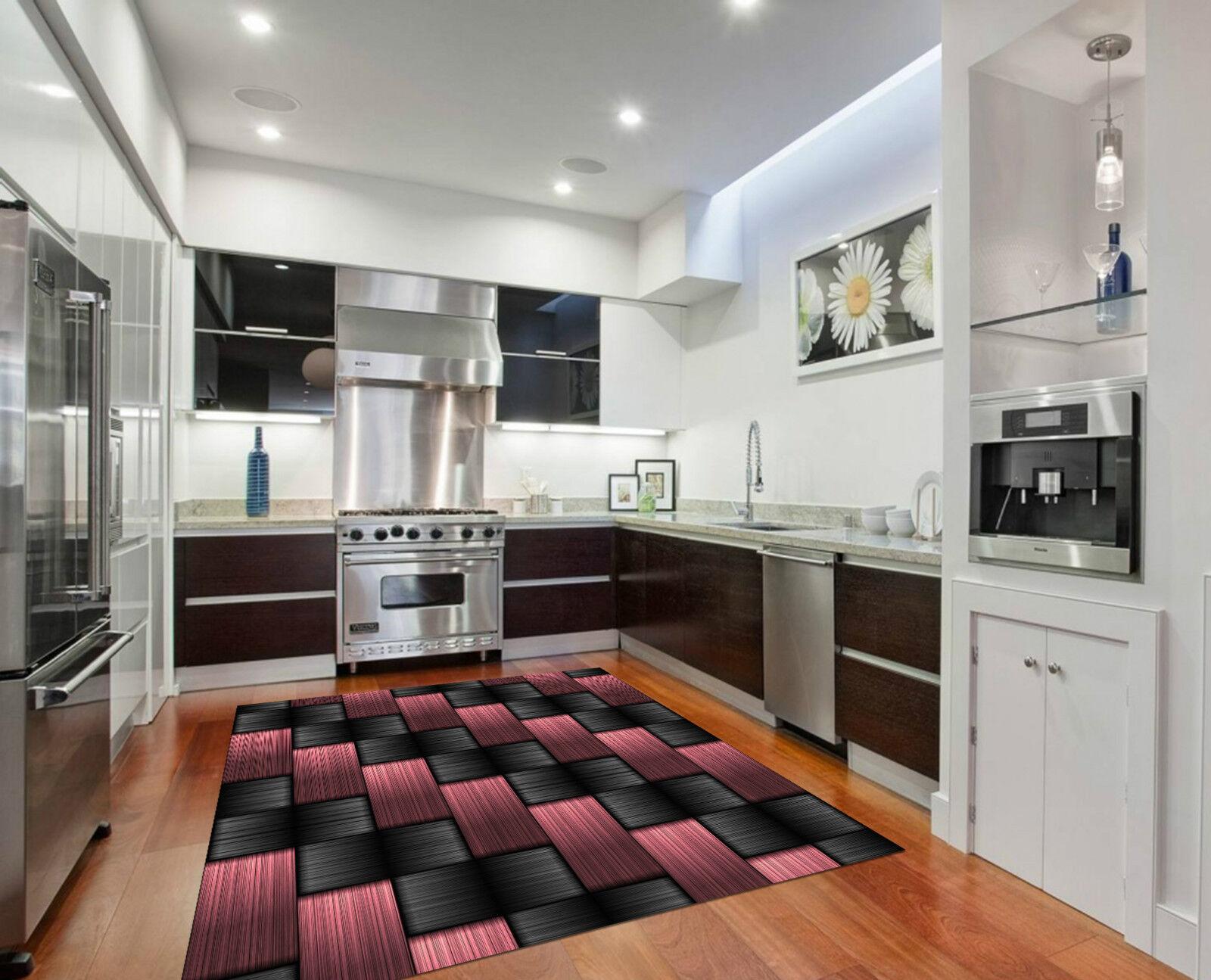 3D Braided Stripe Kitchen Mat Floor Murals Wall Print Wall Deco AJ WALLPAPER CA