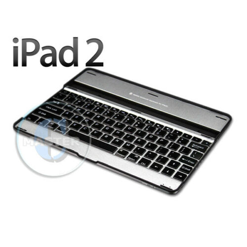 BLUETOOTH WIRELESS FULL-SZ KEYBOARD COVER CASE STAND for APPLE iPAD 4 3 2 SILVER
