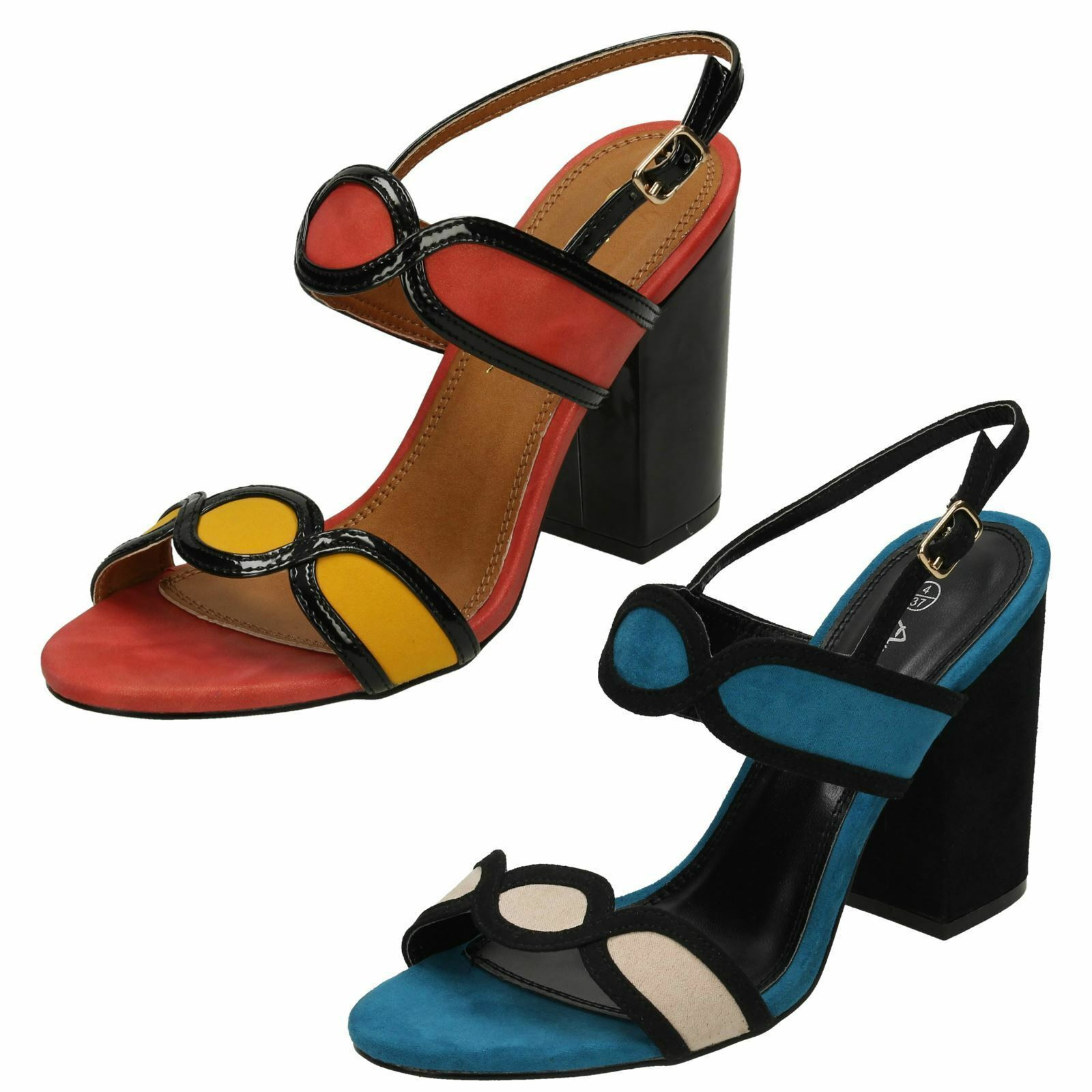 Ladies Anne Michelle High Chunky Heel Sandals F10646 £9.99