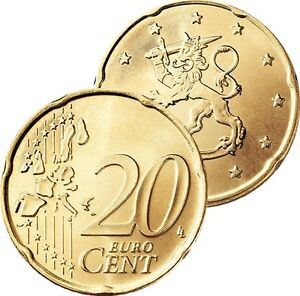 Ek // 20 Cent Finlande # Pièce Nueve : Sélectionnez une Année :