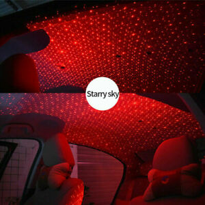 USB-Auto-Atmosphaere-Lampe-Innenraum-Umgebungslicht-LED-Projektor-Sternenhimmel-N
