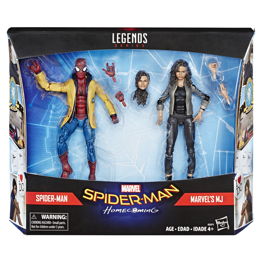 (IN-HAND) Marvel Legends Homecoming 6  Spider-Man & Marvel's MJ Figure 2PK NEW
