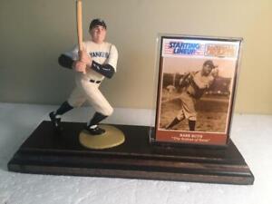 Babe Ruth White NewYork Yankees StartingLineup Figure Mounted Custom Wood Plaque