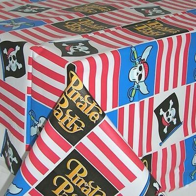 Party Pirate Ship Theme Pirates Childrens Birthday Plastic Tablecloth - 578221