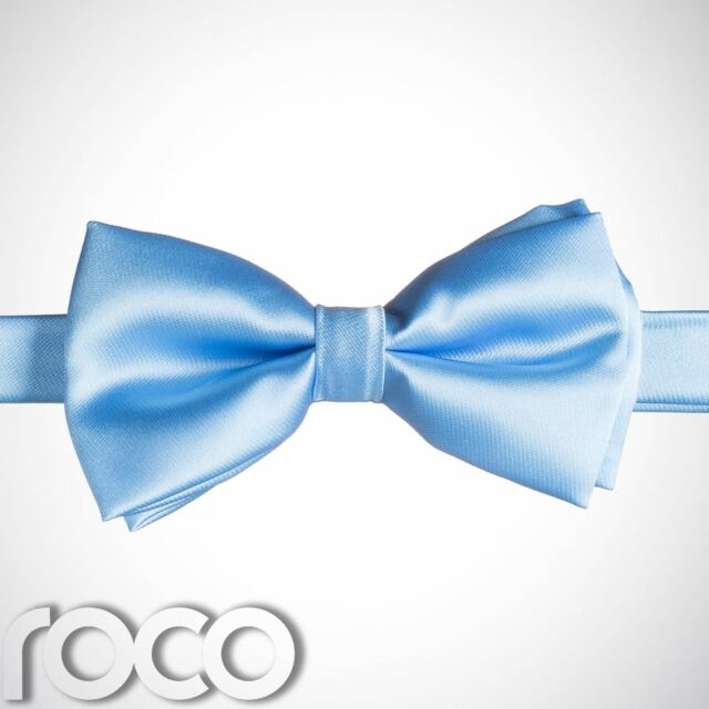 Boys Solid Banded Bow Ties Silver