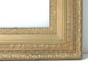 ANTIQUE   GREAT QUALITY GILT FRAME FOR PAINTING  10  X 8  OUTSIDE 17 X 15 INCH