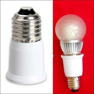 E27 auf E27 LED Leuchtmittel Verlängerung Adapter Lampe Sockel Fassung