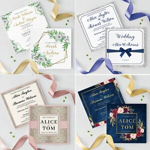 Personalised-Wedding-Ceremony-Or-Evening-Invitations-Invites-With-Envelopes