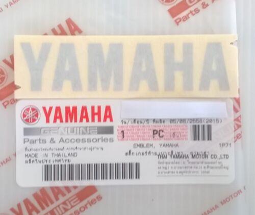 UK STOCK * GENUINE YAMAHA 80mm x 18mm METALLIC SILVER DECAL STICKER BADGE LOGO