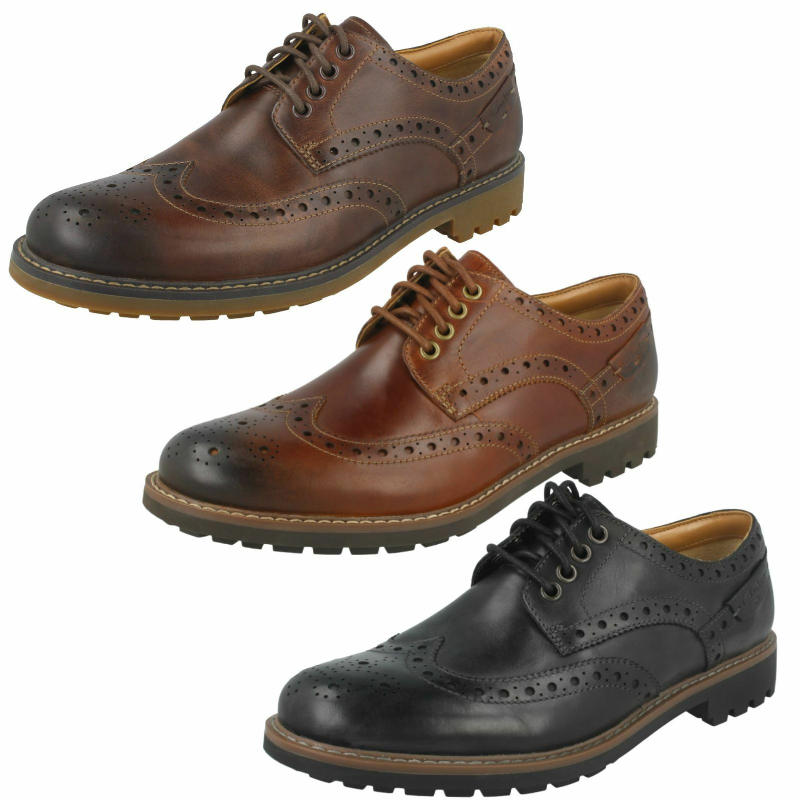 Mens Clarks Montacute Wing Formal Brogue shoes