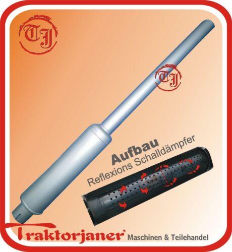 01-T168 Auspuff silber für Hanomag mit 51mm Anschluss