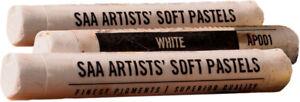SAA Artists Soft Pastels - Set of 3 White