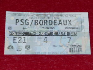 COLLECTION-SPORT-FOOTBALL-TICKET-PSG-BORDEAUX-19-DECEMBRE-2002-Champ-France