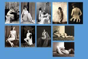 Sexy-10-PHOTO-Lot-of-Nude-Flapper-Girls-1920s-Allen-ACJ-Ziegfeld-Girl-PHOTOS