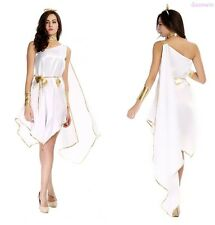 Women Cleopatra Egyptian Greek Roman Toga Goddess Halloween Costume Fancy Dress