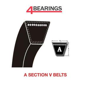 Dunlop ® une section V Ceinture Tailles A20-A80 V Ceinture 13 mm x 8 mm Vee ceinture