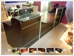 Bancone Reception Per Ufficio : Bancone reception arredo negozio ufficio mobile con cassettiere ebay