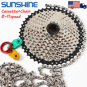8-9-10-11Speed-MTB-Mountain-Bike-Cassette11-40-42-46-50T-KMC-Chain-Derailleur
