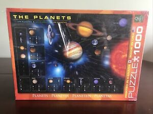 EuroGraphics The Planets Puzzle 1000 Piece Solar System Space Made In USA New