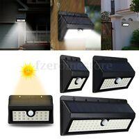 Waterproof 8-62 LED PIR Motion Sensor Solar Wall Lamp Outdoor Security Light