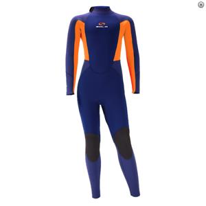 2020//21 Sola Fire 5//4MM Kids Winter Wetsuit Blue Orange