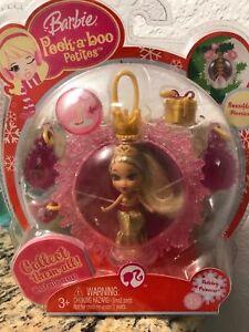 Barbie Peek A Boo Petites Snowflake Flurries Holiday Princess 35