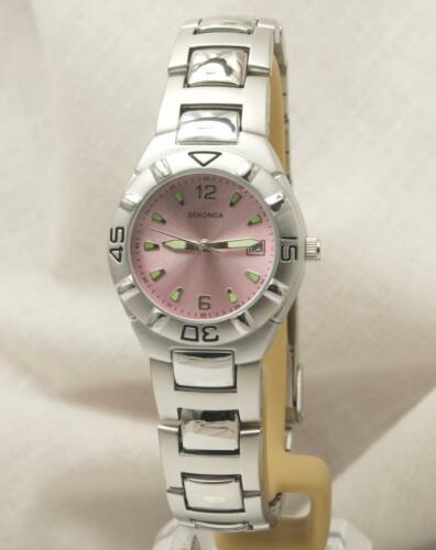 Sekonda 4700 Elegant Ladies Pink Dial Stainless Steel Bracelet Watch RRP £59.99