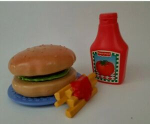 Vtg Fisher Price Fun W Play Food For Little Tikes Mini Meals Bigger Burger 100 Ebay